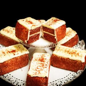 Cake Bars Tray - Red Velvet