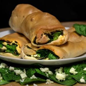 Spinach Feta Roll Tray