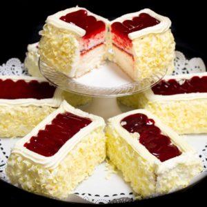 Cake Bars Tray - White Chocolate Raspberry