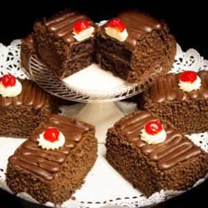 Cake Bars Tray - Chocolate Sour Cream