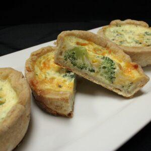 Quiche Cup Tray - Broccoli & Cheese